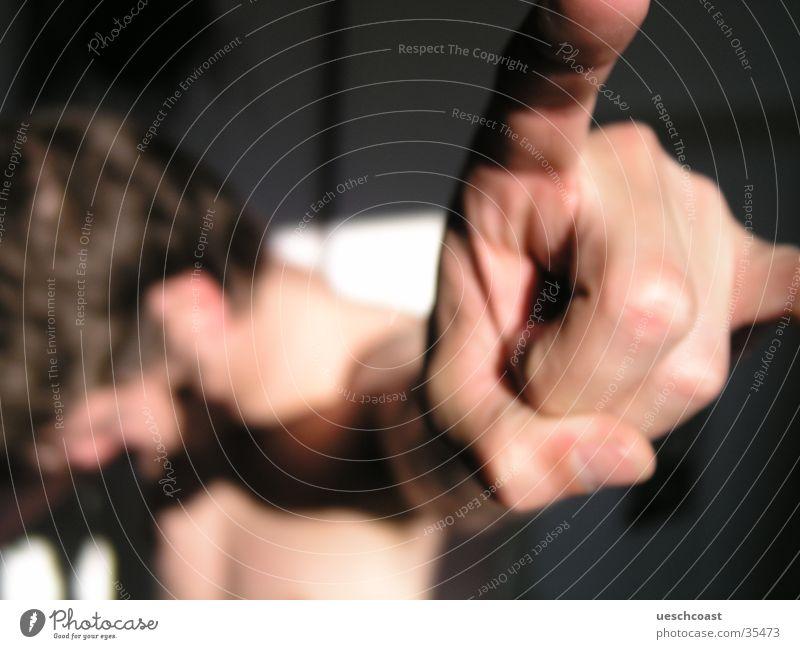 Head Banger Mann Unschärfe Hand hang loose heavy metall Sonne Schatten