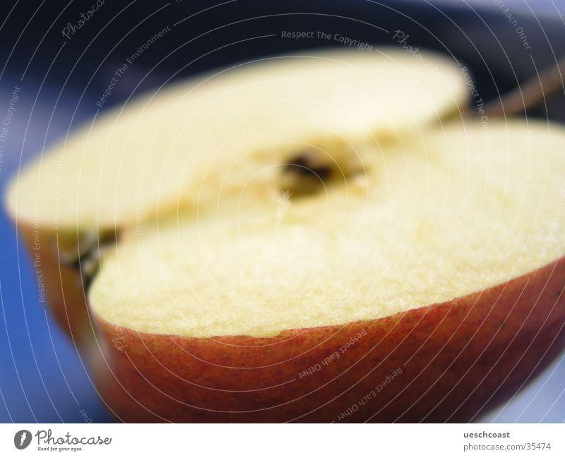 apfel rot Nahaufnahme Unschärfe Gesundheit Apfel Makroaufnahme Bioprodukte vagatarisch hell