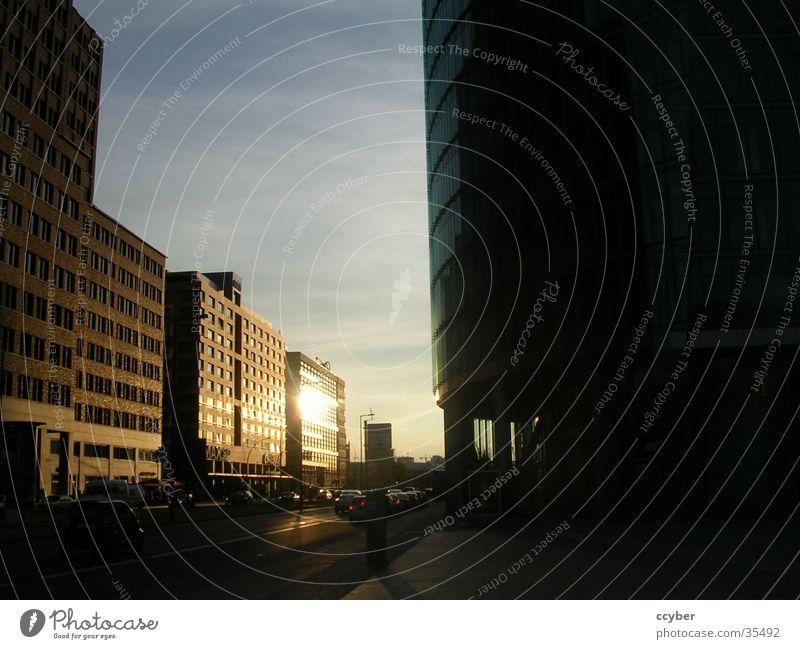 Sunset Berlin Potsdamer Platz Sonnenuntergang Sony Center Berlin Stadt Gebäude Europa Hauptstadt