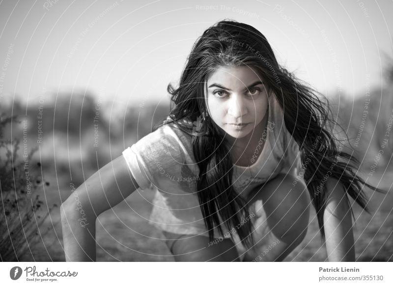 . Mensch Frau Jugendliche schön Einsamkeit Freude 18-30 Jahre Erwachsene feminin Sport Stil Gesundheit Stimmung Körper elegant Zufriedenheit