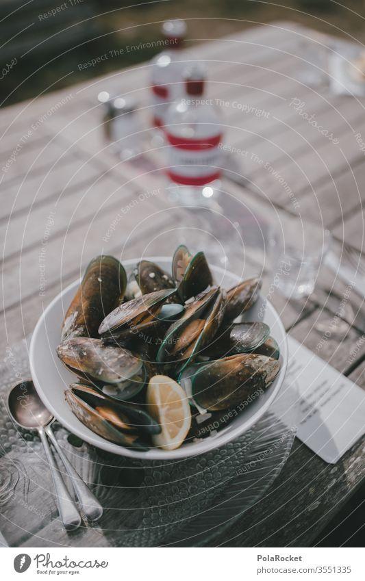 #As# Frische Miesmuscheln Restaurant Restaurantkarte Fischrestaurant Mittagessen lecker mediterran Lebensmittel Farbfoto Ernährung Speise Mahlzeit frisch