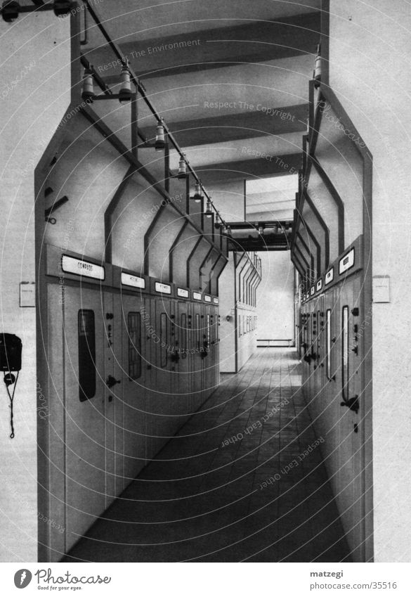Industrie Inside Industriefotografie Industrieanlage Gang Stromkraftwerke Durchblick industriell Durchgang Ruhrgebiet Tunnelblick