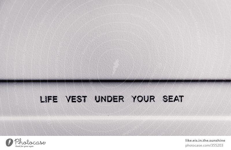 Life vest under your seat Ferien & Urlaub & Reisen Tourismus Ausflug Abenteuer Ferne Sightseeing Luftverkehr Flugzeug Passagierflugzeug im Flugzeug hoch