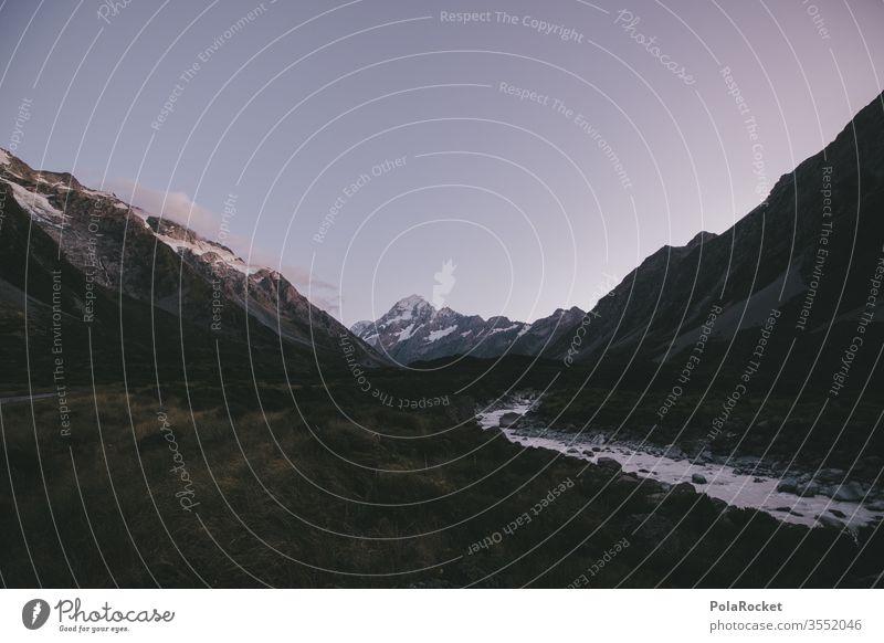 #As# Early Days Felsen Idylle Berghang Freiheit Bergkette Fernweh Neuseeland Landschaft Schönes Wetter Bergsteigen Ausflug Gipfel Tag Tourismus Sommer Umwelt
