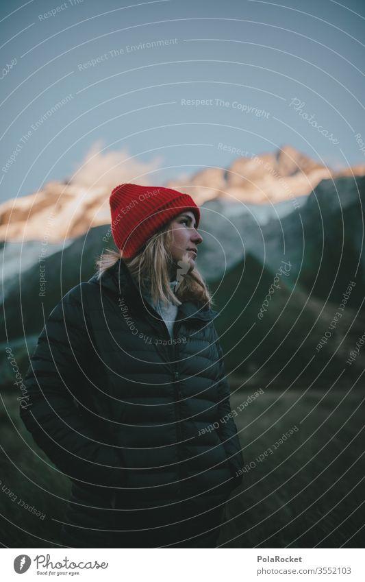 #As# Moment of Silence wanderweg Gipfel Fernweh Weiblichkeit weiblich Frau Outdoor Kraft Tourismus Neuseeland Landschaft Berge u. Gebirge