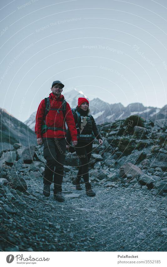 #As# better together wanderweg Gipfel Fernweh Outdoor Frau weiblich Weiblichkeit Kraft Tourismus Neuseeland Landschaft Berge u. Gebirge Außenaufnahme wanderlust