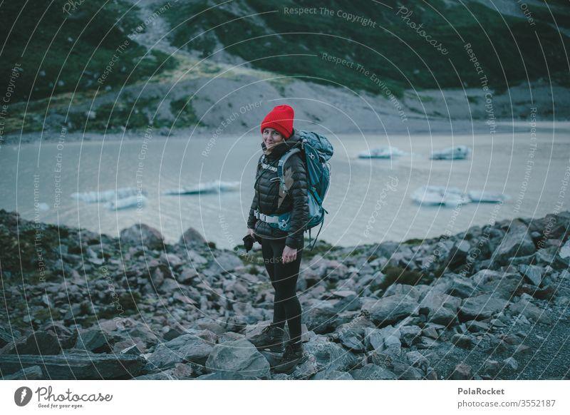 #As# WanderRed wanderweg Gipfel Fernweh Weiblichkeit weiblich Frau Outdoor Kraft Neuseeland Landschaft Tourismus Berge u. Gebirge wanderlust
