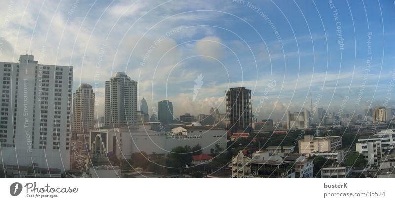 Bangkok City Stadt Hochhaus Asien Gebäude Wolken Architektur Grosstadt