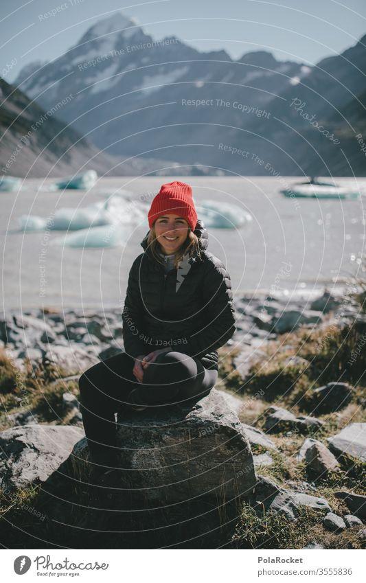 #As# Eisiger Tag Ausflug Bergkette Abenteuer Umwelt Farbfoto mützenmädchen Mütze roadtrip Reisefotografie reisen Reisender Reiseroute reiseziel reisend Wanderer