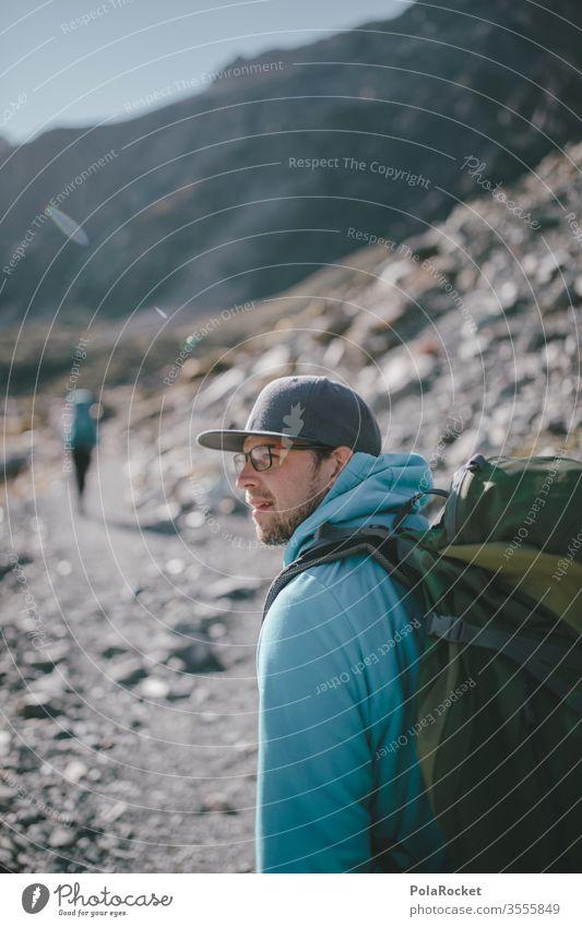 #As# Wanderlust wandern Wanderer Wandertag Wanderausflug Wanderung wanderlust wanderweg Mann Outdoor Neuseeland Neuseeland Landschaft Berge u. Gebirge