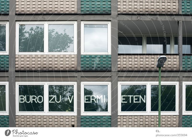 büro zu vermieten Stadt Haus Fenster Architektur Gebäude Business Arbeit & Erwerbstätigkeit Büro Fassade trist Wandel & Veränderung Industrie