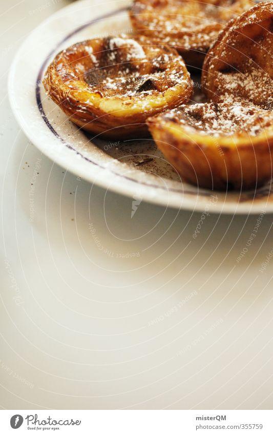 Belém II Kunst ästhetisch Zufriedenheit Kaffeepause Kaffeetrinken Kaffeetisch Kuchen Teller lecker Tellerrand Kalorienreich schön Süßwaren Delikatesse