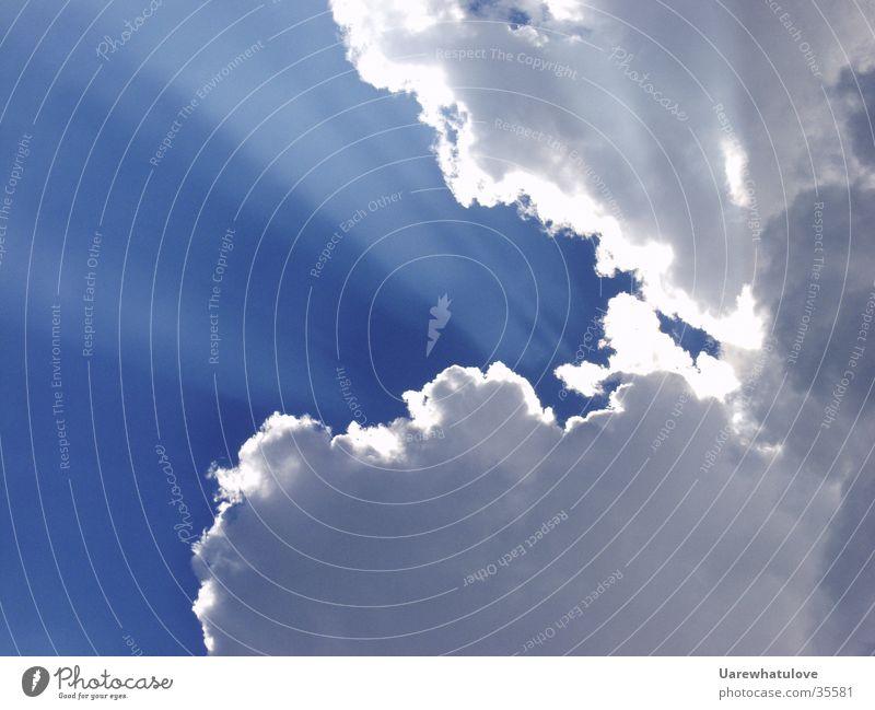 Wolken Schein Himmel Sonne blau