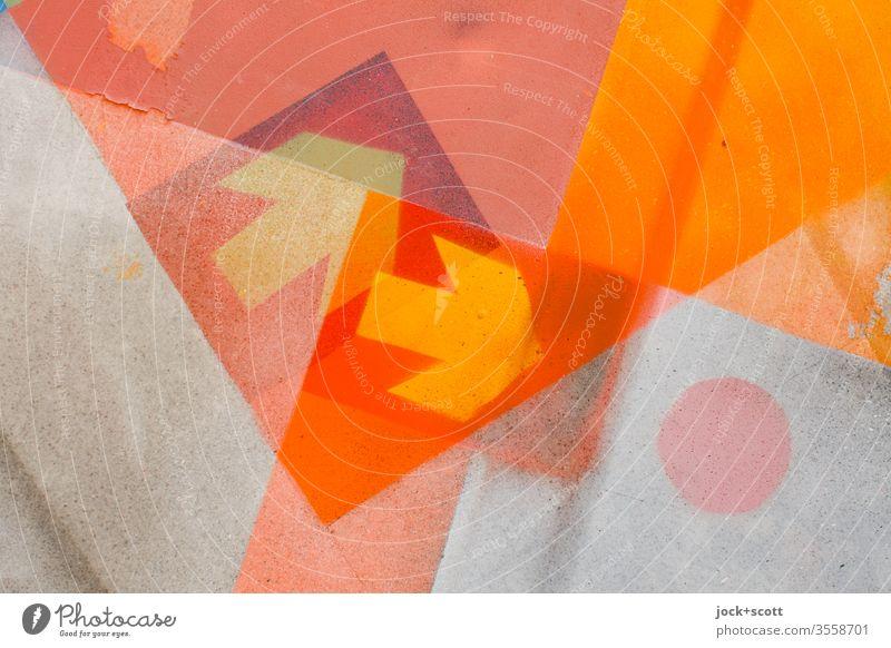 Pfeil symbolisiert Richtungen wie ein Auf und Ab abstrakt Doppelbelichtung Reaktionen u. Effekte 2 Grafik u. Illustration Schilder & Markierungen Detailaufnahme