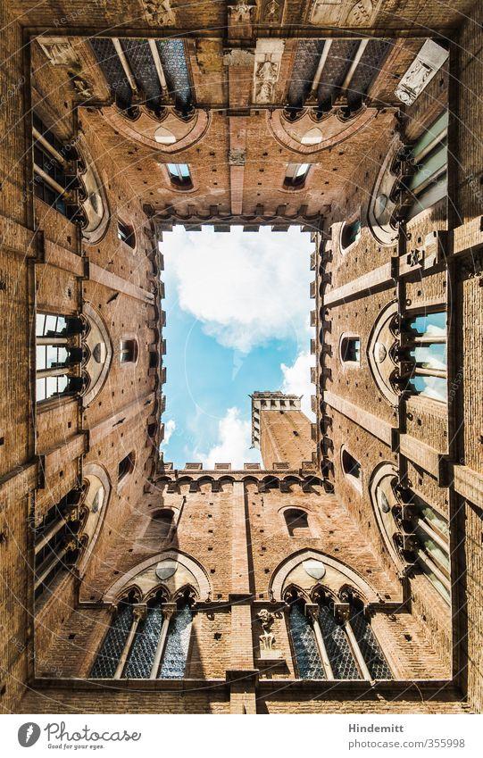 steffnes Sicht der Dinge Himmel Wolken Siena Kleinstadt Stadt Stadtzentrum Altstadt Haus Rathaus Turm Bauwerk Gebäude Architektur Mauer Wand Fassade Fenster