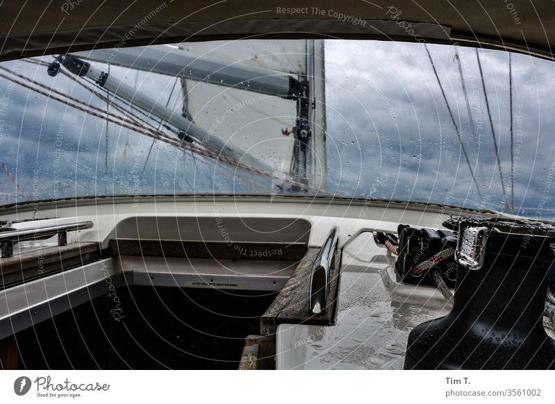 Segeln Wasser Wasserfahrzeug Meer Segelboot See Schifffahrt Ferien & Urlaub & Reisen Farbfoto Segelschiff Himmel Wassersport Abenteuer Freiheit Bootsfahrt