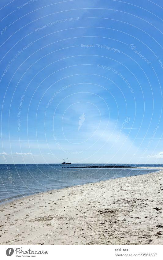 Nordsee   Sylt  (schön frisch) List Strand Küste Sand Meer Ferien & Urlaub & Reisen Sommer Menschenleer Außenaufnahme Insel Natur Himmel blau Schönes Wetter