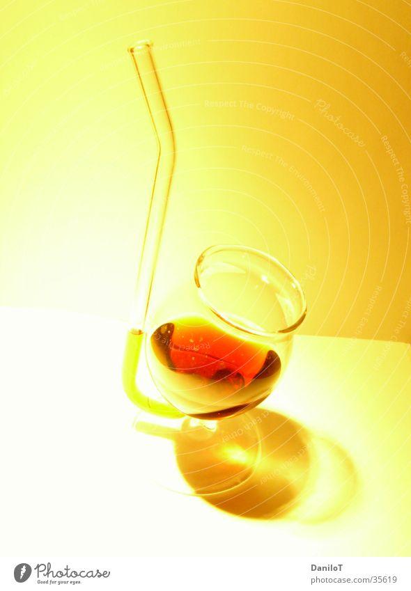 Noch ein Schnäpschen? Freude gelb Glas trinken Überbelichtung Spirituosen Getränk