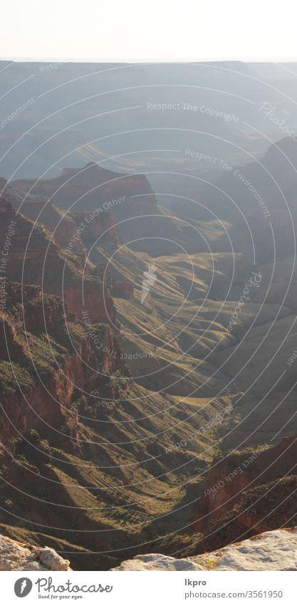 Grand Canyon im Nationalpark Sonnenaufgang wild südwestlich Sand erstaunlich navajo Utah Panorama Inder Formation Westen niemand Aussichtspunkt Spaziergang Bach