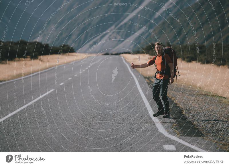 #AS# Nächster Halt- Freiheit Ausflug Umwelt Abenteuer Berge u. Gebirge Ferien & Urlaub & Reisen Landschaft Natur Farbfoto Außenaufnahme Straßenrand Fernweh