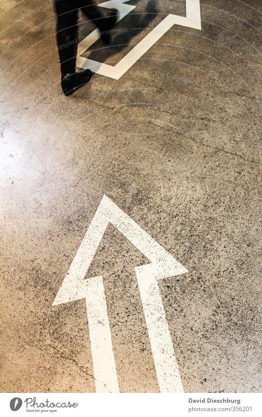 Go forward Mensch weiß Bewegung Wege & Pfade Beine Fuß gehen Schuhe Erfolg Schilder & Markierungen Wachstum Zeichen Pfeil Richtung Fußgänger aufsteigen