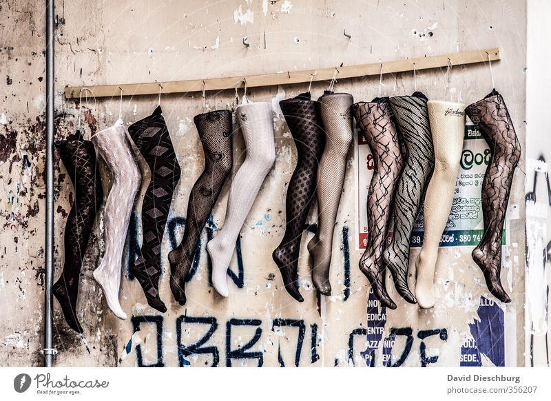 *800* Tausenfüssler Kunst Mode Bekleidung Strümpfe Accessoire Schmuck braun gelb weiß Netzstrümpfe Erotik Beine hängend verkaufen Prothese Muster