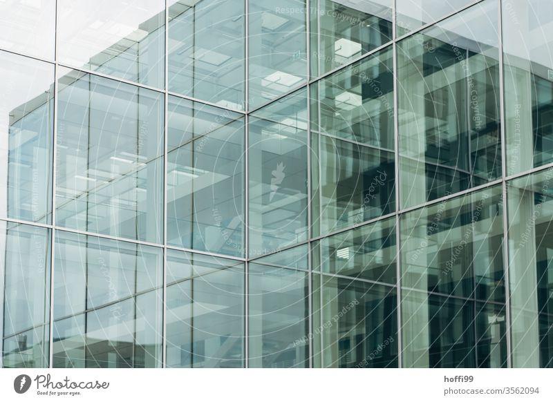 komplex spiegelnde Fassade Fenster abstrakt Symmetrie Design Linie Ordnung Reflexion & Spiegelung Architektur authentisch Gebäude ästhetisch Business Hochhaus