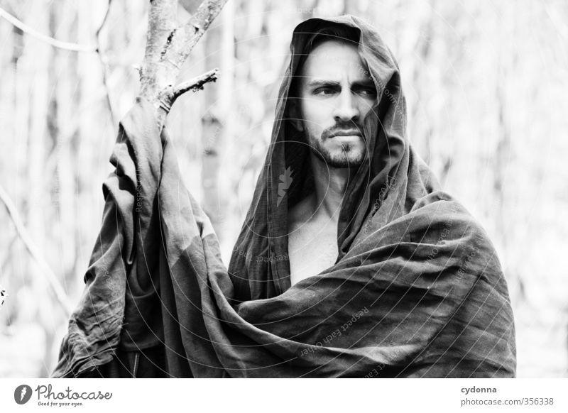 Waldmann VIII Mensch Natur Jugendliche schön Baum ruhig Junger Mann 18-30 Jahre Umwelt Erwachsene Leben Freiheit elegant Kraft Abenteuer