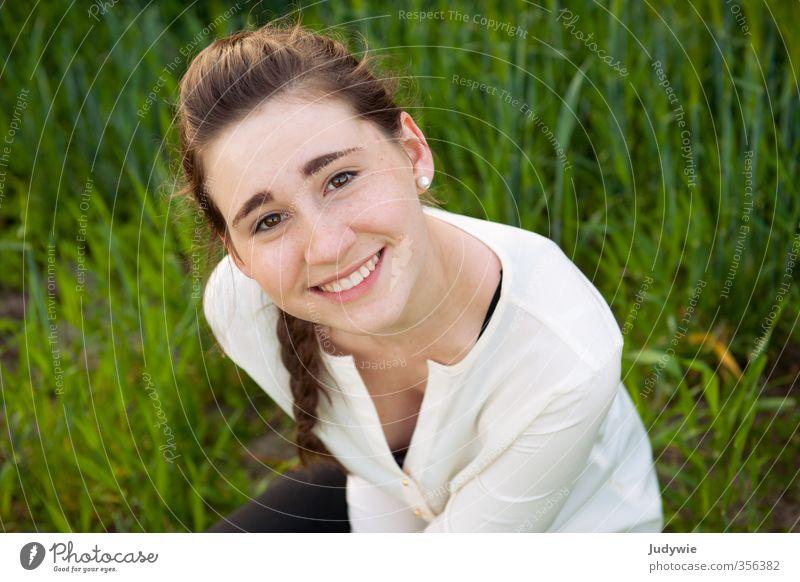 Glücklich Freude schön harmonisch Zufriedenheit Sommer Sonne Mensch feminin Junge Frau Jugendliche 13-18 Jahre Kind Umwelt Natur Frühling Schönes Wetter Pflanze