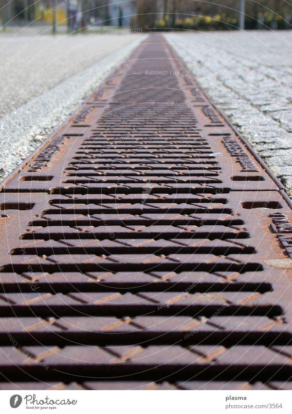 Bodenstahl Straße Perspektive Dinge