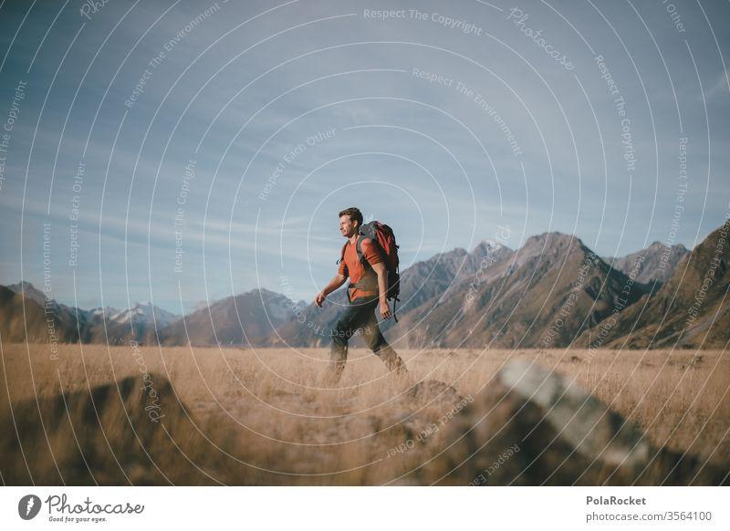 #aS# Wanderlaune Wanderer wandern Wandertag Wanderausflug Wanderung wanderlust wanderweg Neuseeland Neuseeland Landschaft Berge u. Gebirge Rucksack