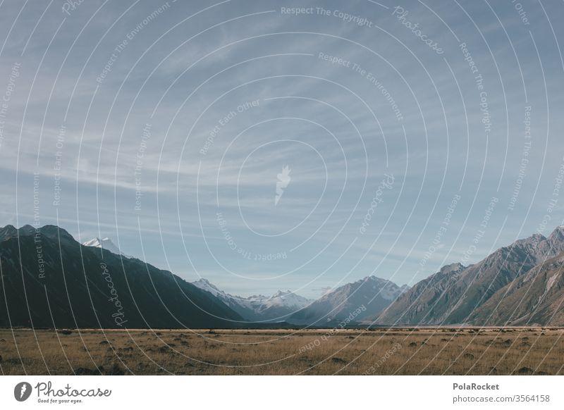 #As# Mount Cook Ebene in Neuseeland Ausflug Abenteuer Umwelt Farbfoto Reisefotografie Wanderausflug Ferien & Urlaub & Reisen Natur Landschaft Berge u. Gebirge