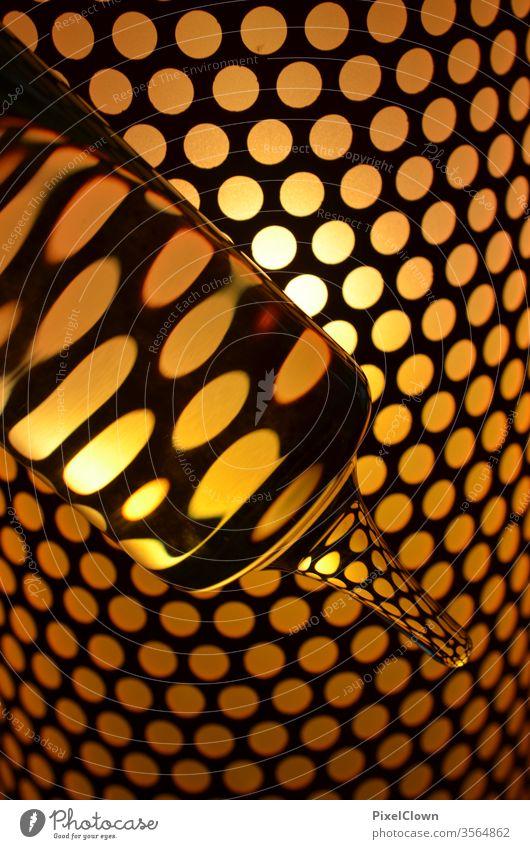 Abstrakte gelbe Punkte F Kontrast Thermometer, Farbfoto gelb, abstrakt, rund, Kreise Experiment