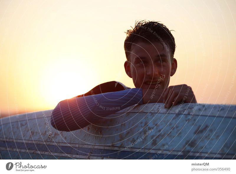 relax. Kunst ästhetisch Zufriedenheit Erholung Surfen Surfer Surfbrett Surfschule Mann maskulin Freizeit & Hobby Freiheit ruhig Arme Erotik Wassersport