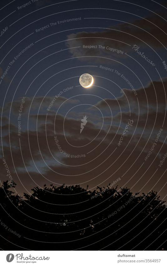 lunatic Mond Mondschein Mondfinsternis Mondsüchtig mondgesicht Mond- Nacht Abend Nachthimmel Nachtruhe Nachtaufnahme Himmel Himmelskörper & Weltall dunkel Luna
