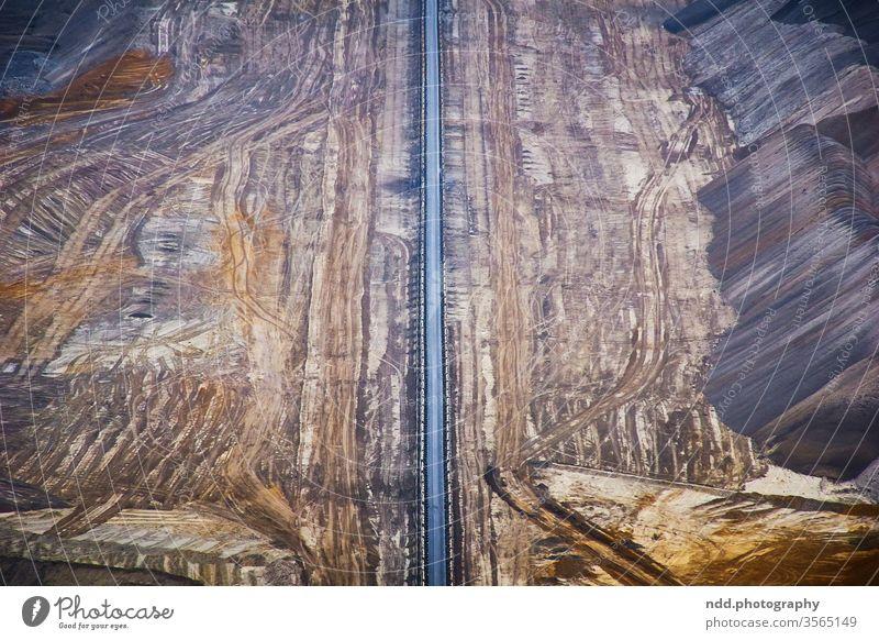 Braunkohletagebau Tagebau Gartzweiler Erde Struktur Zerstörung Umwelt