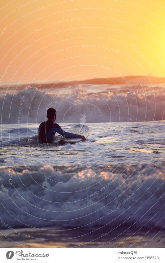 Going out VII Himmel Meer Stil Kunst Wellen Freizeit & Hobby Idylle elegant Zufriedenheit Lifestyle ästhetisch Abenteuer sportlich exotisch Surfen Surfer