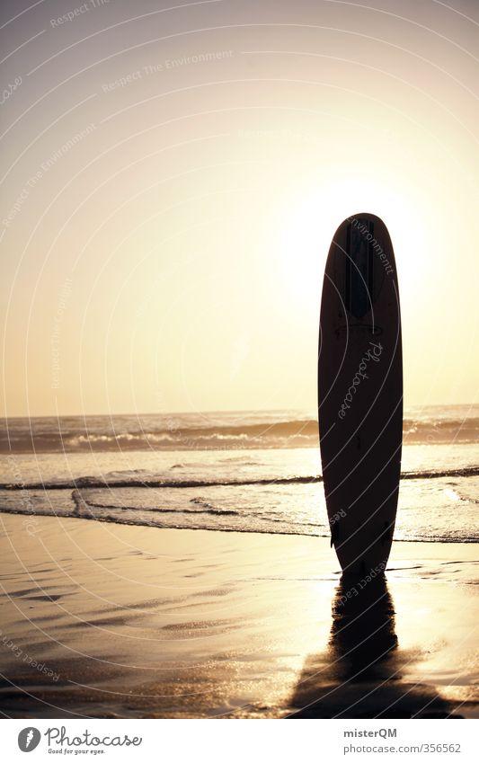 Surfer's Paradise. Lifestyle elegant exotisch Freude Freizeit & Hobby Kunst ästhetisch Zufriedenheit Surfen Surfbrett Surfschule Meer Strand Strandbar