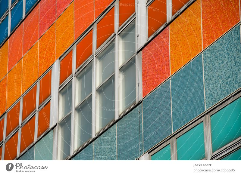 ehemaliges Centrum Warenhaus Muster Detailaufnahme Qualität retro Fenster Fassade Friedrichshain Kaufhaus DDR Sozialismus Strukturen & Formen abstrakt