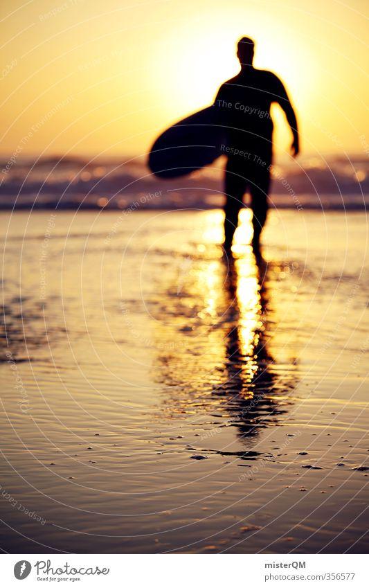 Going out IX Ferien & Urlaub & Reisen Sonne Ferne Horizont Kunst Idylle Zufriedenheit Tourismus ästhetisch Zukunft Abenteuer Hoffnung Wellness Surfen Surrealismus Künstler