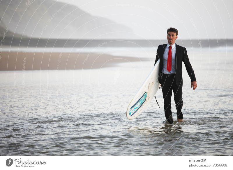 Surfer's Walk III Ferien & Urlaub & Reisen Meer Freude Strand Stil Kunst Business Freizeit & Hobby elegant Zufriedenheit laufen Design Lifestyle ästhetisch