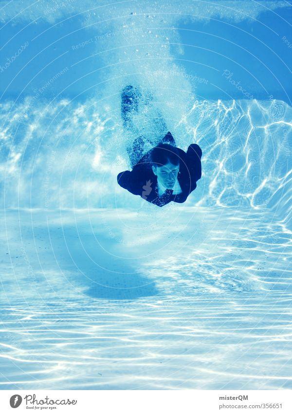 KarriereStart II Ferien & Urlaub & Reisen blau Wasser Sommer Mode Kunst Business Zufriedenheit Perspektive verrückt ästhetisch Politische Bewegungen Boden Pause Schwimmbad Beruf