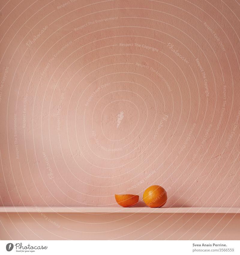 Rosa Orange rosa rosa Hintergrund Wand Foodfotografie Stillleben Essen Ernährung Lebensmittel hell schön Gesunde Ernährung Gesundheit Tageslicht orange wohnen
