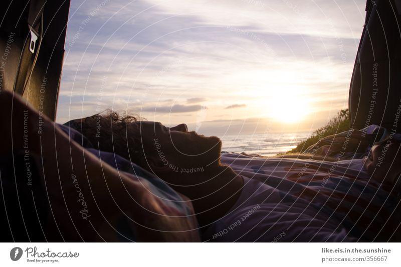 real good morning Natur Jugendliche Ferien & Urlaub & Reisen Sommer Meer Erholung Strand Ferne Junger Mann Freiheit Küste Reisefotografie PKW maskulin