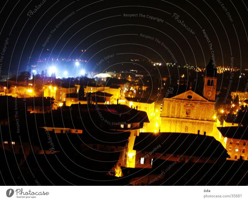 Arco at night #2 Stadt Gebäude Religion & Glaube Scheinwerfer