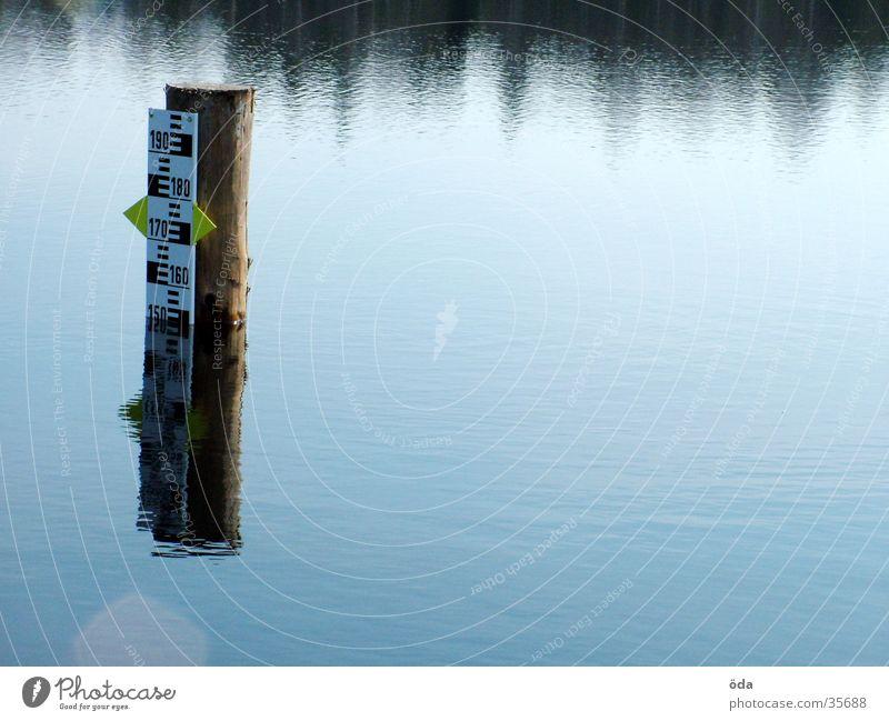 Pegel #2 Wasser See Niveau obskur Teich Anzeige Skala Wasserstand