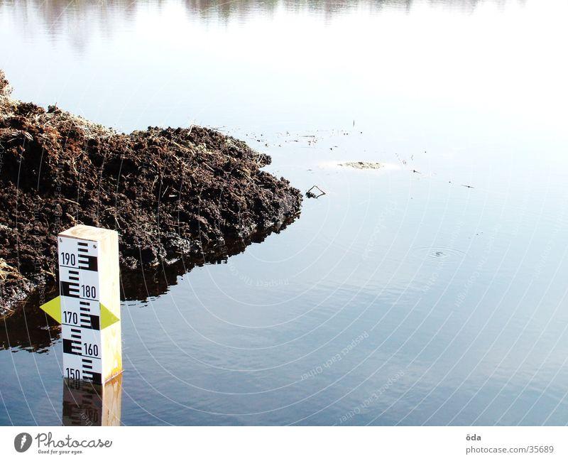 Pegel #1 Wasser See Niveau obskur Teich Anzeige Skala Wasserstand