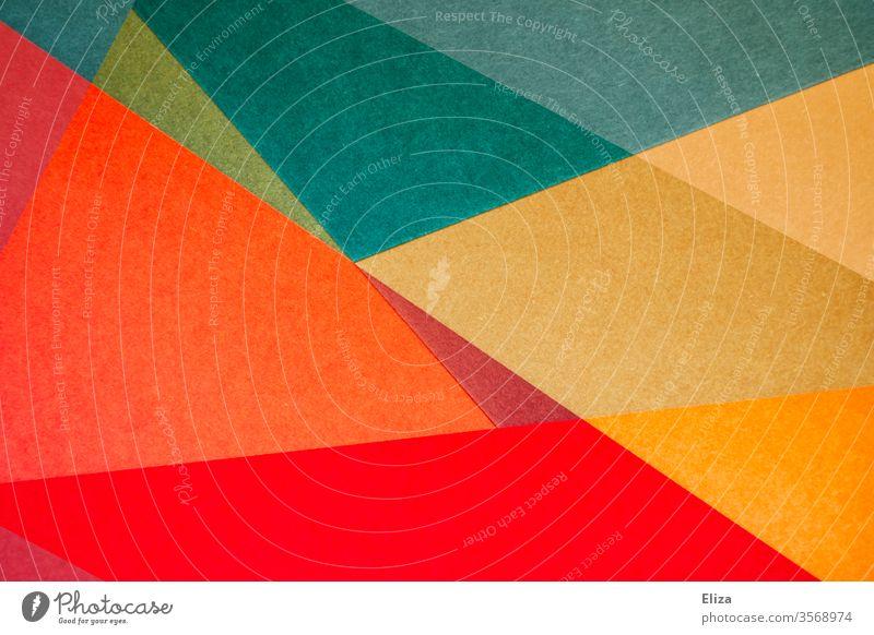 Bunte abstrakte und grafische geometrische Formen gemoetrisch Kunstwerk Hintergrund eckig überlappen Strukturen & Formen Design Muster Kreativität
