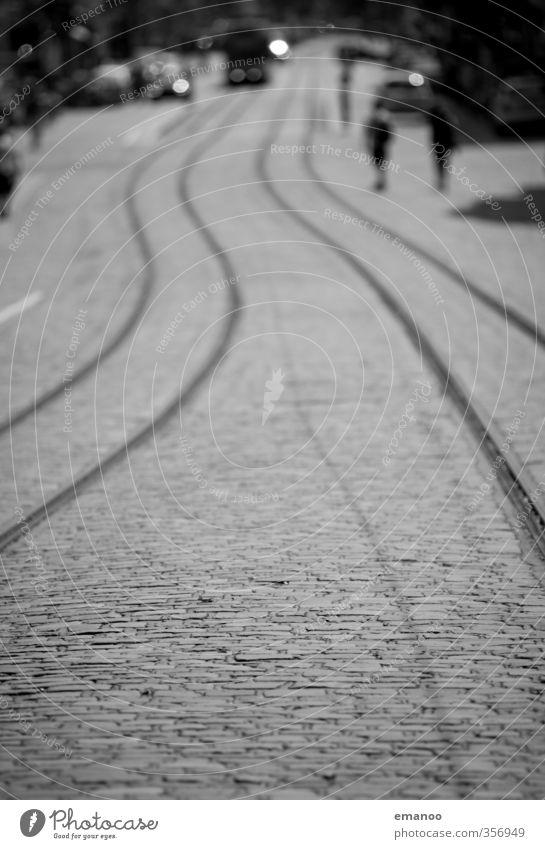 Stadtlinien Mensch Ferien & Urlaub & Reisen Straße Wege & Pfade grau Linie PKW Verkehr Gleise tief Verkehrswege Fahrzeug Stadtzentrum Kurve Autofahren
