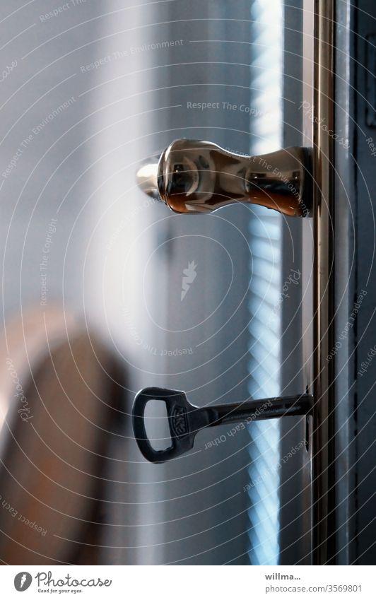 Schlüsselerlebnis Türklinke Wohnungsschlüssel Türschlüssel Messingklinke verschlossen
